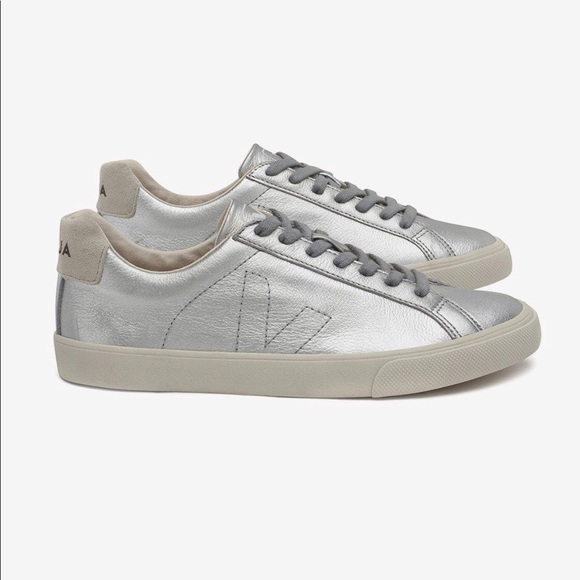 Veja Esplar Silver Sneakers Sz 39 Us 8